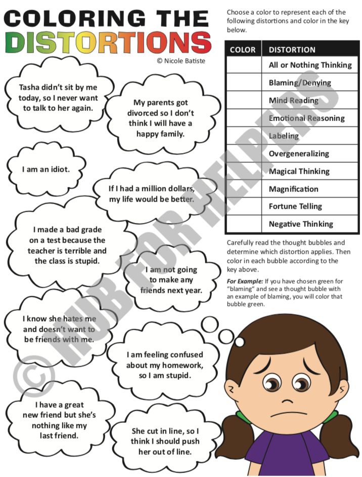 cognitive behavioral therapy coloring pages - photo#30